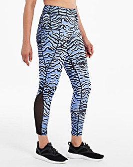 Active Side Panel Zebra Long Leggings