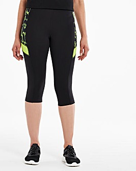 Active Side Panel Croc Crop Leggings
