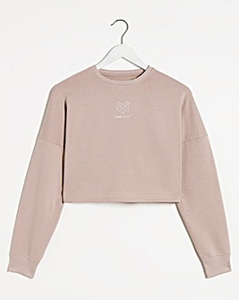 Pink Soda Dune Crop Crew Sweat