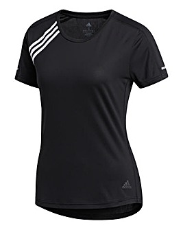 adidas Run 3 Stripes T-Shirt