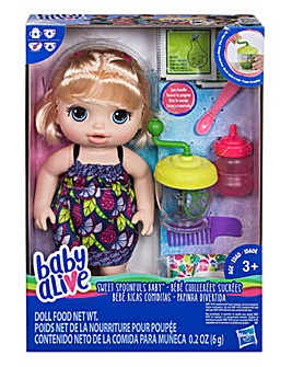 Baby Alive Sweet Spoonfuls Blonde Doll