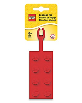 LEGO 2x4 Luggage Tag - Red