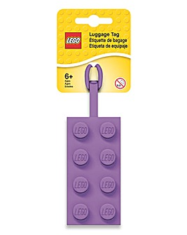 LEGO 2x4 Luggage Tag - Lavender