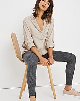 Herringbone High Waisted Cotton Legging