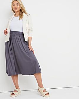 Premium Modal Gathered Midi Skirt