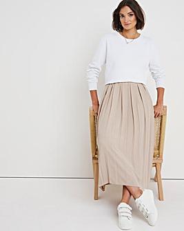 Sand Box Pleat Midi Skirt