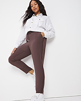 Mocha Tapered Trouser with Side Stripe Detail