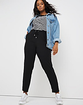 Black Tapered Trouser with Side Stripe Detail