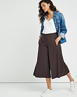 Premium Super Soft Graphite Wide Leg Crop Trouser