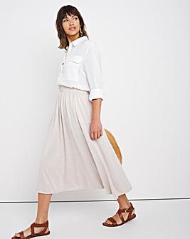 Stone Premium Modal Gathered Midi Skirt
