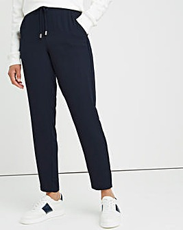 Navy Woven Jogger with Side Stripe Detail