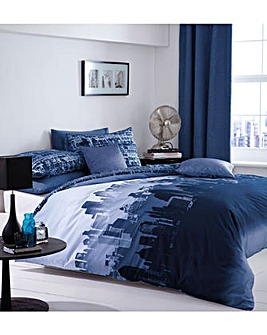 Catherine Lansfield City Scape Duvet Set