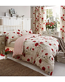 Catherine Lansfield Wild Poppies Curtain