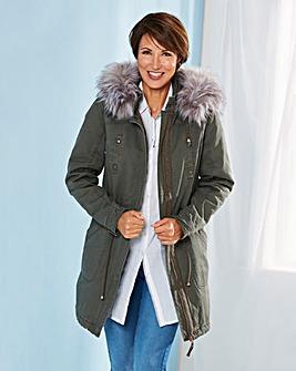 Plain Cotton Parka Coat