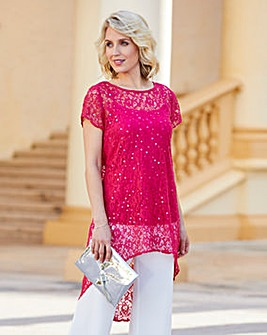 Nightingales Lace Sequin Tunic