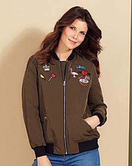 Badge Bomber Jacket