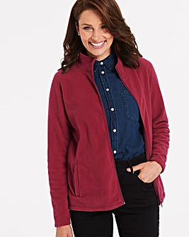 Berry Red Fleece Jacket