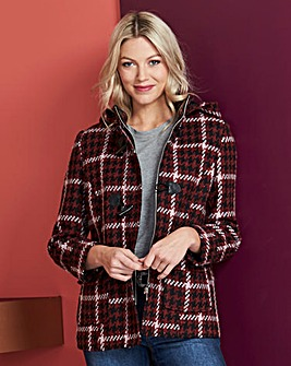 Check Short Duffle Coat