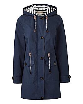 Petite Hooded Contrast Jacket