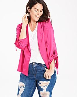 Tie Sleeve Soft Jacket