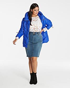 Cobalt Blue Padded Jacket