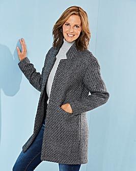 Wool Look Blazer Coat