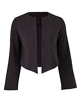 Cropped Fluted Sleeve Jacket