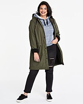 Rain Coat With Borg Faux Fur Lining