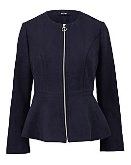 Wool Look Peplum Jacket