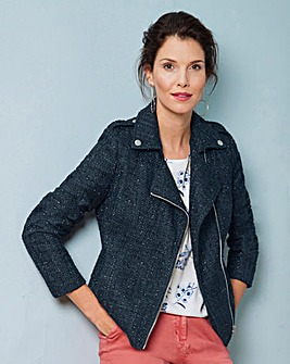 Boucle Biker Jacket
