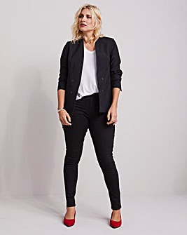 Edge to Edge Black Fashion Blazer