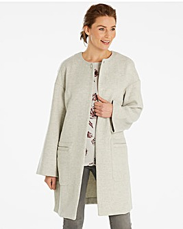 Wool Blend Drop Shoulder Coat