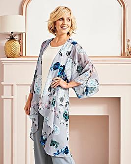 Nightingales Print Kimono