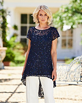Nightingales Sequin Lace Tunic