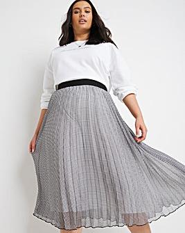 Gingham Pleated Skirt