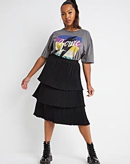 Three Tier Midi Skirt