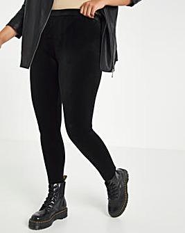 Black Velour Legging