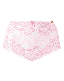 Joanna Hope 2 Tone Pink Lace Deep Brief