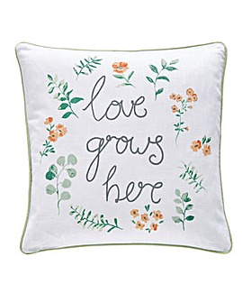 Love Grows Here Cushion