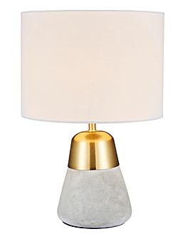 Larson Concrete & Gold BedsideTable Lamp