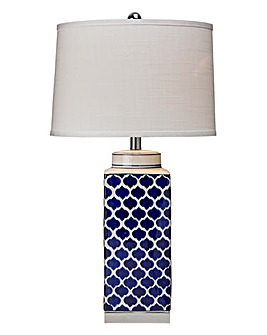Ramsey Blue Shells Ceramic Table Lamp