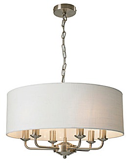 Imogen 6 Light Fitted Ceiling Chandelier