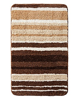 Oslo Stripes Bath Mat Natural