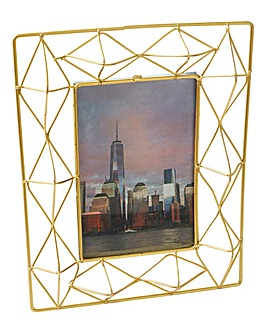 Gold Wire Photo Frame 4x6in