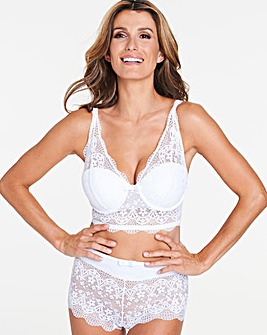Pretty Secrets Lottie Lace White Midi Wired Bralette