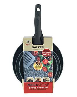 Salter Megastone 3 Piece Fry Pan Set