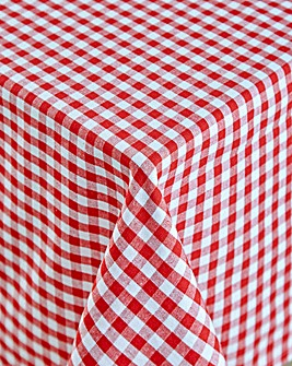 Gingham Check Large Table Cloth