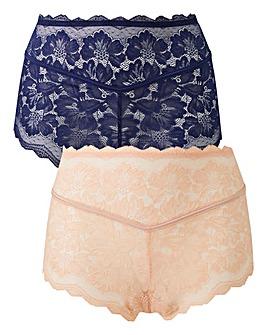 2PK Katie Blush/Navy Lace Midi Shorts