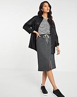 Formal Tie Waist Jogger Skirt