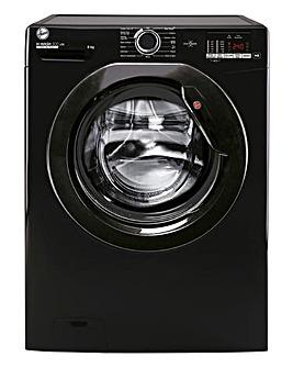 Hoover H3W482DBBE/1-80 8kg Free Standing Washing Machine Black